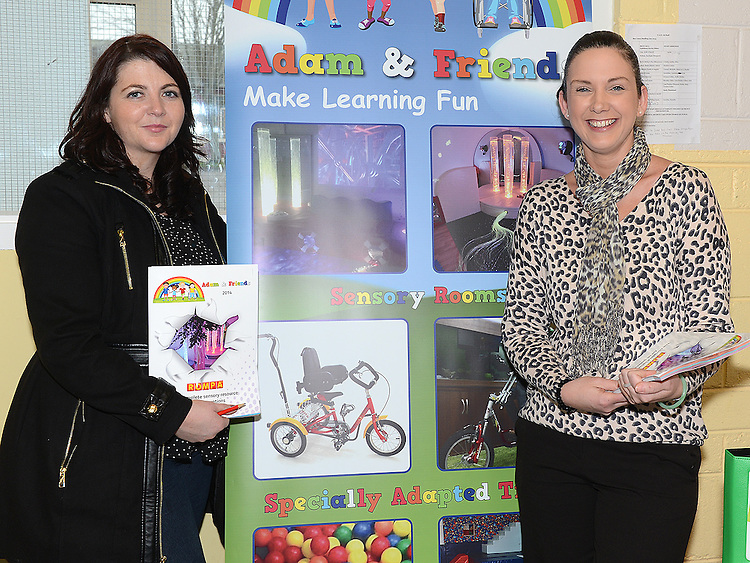 Gillian Smullen Organizer and Special Needs Parents Association and Louise O'Hanlon from Adam & Friends pictured at the Information Day held at St. Mary's Special Needs School Drumcar. Photo:Colin Bell/pressphotos.ie