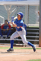 Logan Watkins of the Chicago Cubs plays in a minor league spring training game against the San Francisco Giants at the Cubs complex on March 29, 2011  in Mesa, Arizona. .Photo by:  Bill Mitchell/Four Seam Images.
