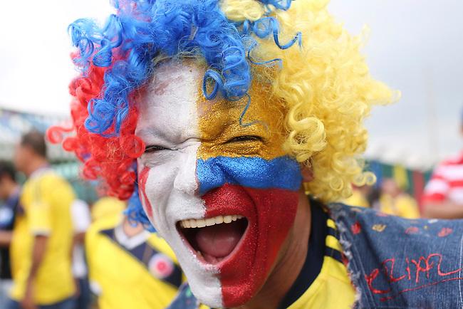 Hincha de Colombia en partido de eliminatorias para el Mundial de F&uacute;tbol 2018 contra Uruguay en el Estadio Metropolitano Roberto Melendez de Barranquilla el 11 de octubre de 2016.<br /> <br /> Foto: Archivolatino<br /> <br /> COPYRIGHT: Archivolatino<br /> Prohibido su uso sin autorizaci&oacute;n.
