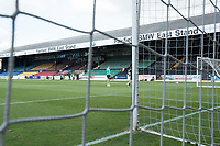 A general view from behind the goal during Southend United vs Harrogate Town, Sky Bet EFL League 2 Football at Roots Hall on 12th September 2020