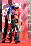 Arnaud Demare (FRA) Groupama-FDJ on the start ramp of Stage 1 of the 2019 Giro d'Italia, an individual time trial running 8km from Bologna to the Sanctuary of San Luca, Bologna, Italy. 11th May 2019.<br /> Picture: Eoin Clarke | Cyclefile<br /> <br /> All photos usage must carry mandatory copyright credit (© Cyclefile | Eoin Clarke)