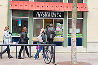 People visit downtown Madison, Wisconsin on Saturday, November 28, 2015