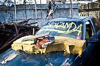 Il faudra beaucoup de temps pour nettoyer et reconstruire la ville de Tacloban après le passage du typhon Haiyan localement appelé super typhon Yolanda. Tacloban, Novembre 2013. VIRGINIE NGUYEN HOANG