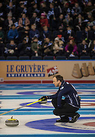 Glasgow. SCOTLAND.  Scotland &quot;Skip&quot; Tom , BREWSTER&quot;Round Robin&quot; Game. Le Gruy&egrave;re European Curling Championships. 2016 Venue, Braehead  Scotland<br /> Tuesday  22/11/2016<br /> <br /> [Mandatory Credit; Peter Spurrier/Intersport-images]