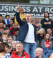 Blackburn Rovers fans vent their frustration as Doncaster Rovers score their third goal<br /> <br /> Photographer Stephen White/CameraSport<br /> <br /> The EFL Sky Bet League One - Blackburn Rovers v Doncaster Rovers - Saturday August 12th 2017 - Ewood Park - Blackburn<br /> <br /> World Copyright &copy; 2017 CameraSport. All rights reserved. 43 Linden Ave. Countesthorpe. Leicester. England. LE8 5PG - Tel: +44 (0) 116 277 4147 - admin@camerasport.com - www.camerasport.com