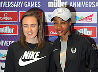 Laura Muir (Great Britain) – 1500m - European champion and multi-British record holder and Laura Muir (Great Britain) – 1500m - European champion and multi-British record holder during the Muller Anniversary Games 2019 pre-event media day at the Leonardo Royal Hotel, Prescod Street, England on 19 July 2019. Photo by Alan  Stanford.