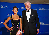 Stephanie Ruhle, left, and Chris Matthews, right, arrive for the 2018 White House Correspondents Association Annual Dinner at the Washington Hilton Hotel on Saturday, April 28, 2018.<br /> Credit: Ron Sachs / CNP<br /> <br /> (RESTRICTION: NO New York or New Jersey Newspapers or newspapers within a 75 mile radius of New York City)
