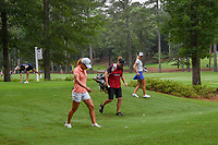 Danielle Kang (USA) and Anna Nordqvist (SWE) walk through sloppy conditions as they head down 11 during round 1 of the U.S. Women's Open Championship, Shoal Creek Country Club, at Birmingham, Alabama, USA. 5/31/2018.<br /> Picture: Golffile   Ken Murray<br /> <br /> All photo usage must carry mandatory copyright credit (© Golffile   Ken Murray)