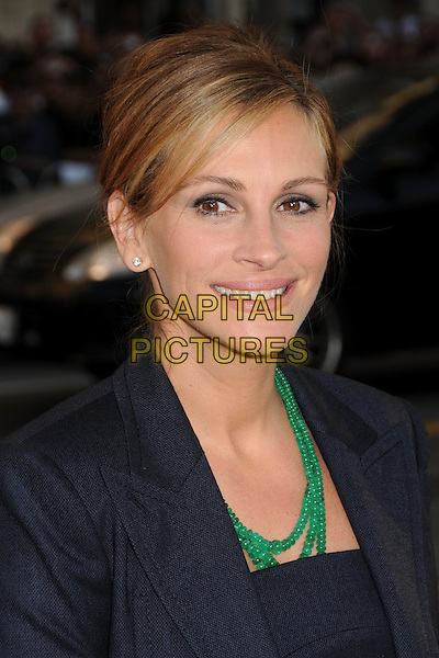 "Julia Roberts.""Larry Crowne"" Los Angeles Premiere held at Grauman's Chinese Theatre.  Hollywood, California, USA..27th June 2011.headshot portrait black green beads necklace smiling.CAP/ADM/BP.©Byron Purvis/AdMedia/Capital Pictures."