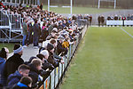 Darlington fans watching the second half. Darlington 1883 v Southport, National League North, 16th February 2019. The reborn Darlington 1883 share a ground with the town's Rugby Union club. <br />