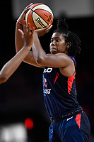 Washington, DC - July 30, 2019: Washington Mystics guard Ariel Atkins (7) connects on a jump shoot during game between the Phoenix Mercury and the Washington Mystics at the Entertainment & Sports Arena in Washington, DC. The Mystics defeated the Mercury 99-93. (Photo by Phil Peters/Media Images International)