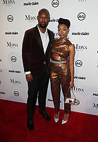 WEST HOLLYWOOD, CA - JANUARY 11: Kenric Green, Sonequa Martin, at Marie Claire's Third Annual Image Makers Awards at Delilah LA in West Hollywood, California on January 11, 2018. Credit: Faye Sadou/MediaPunch