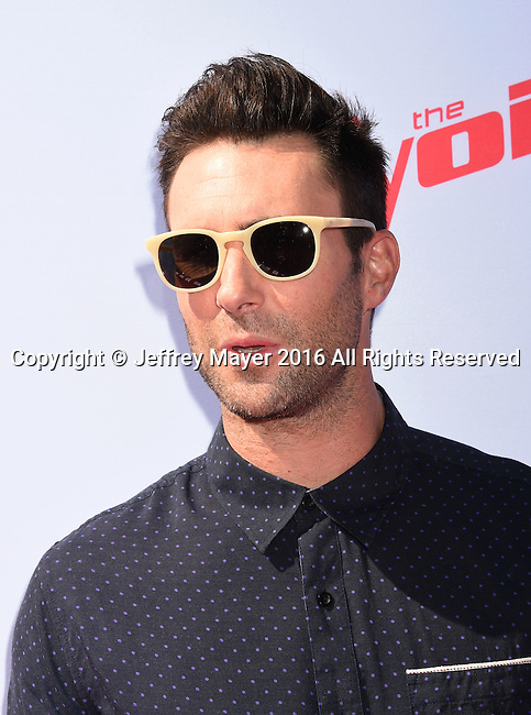 WEST HOLLYWOOD, CA - APRIL 21: Singer/musician Adam Levine arrives at 'The Voice' Karaoke For Charity event at HYDE Sunset: Kitchen + Cocktails on April 21, 2016 in West Hollywood, California.