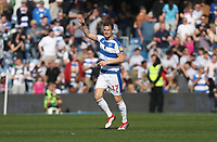 Queens Park Rangers' Matt Smith celebrates scoring his side's first goal <br /> <br /> Photographer Rob Newell/CameraSport<br /> <br /> The EFL Sky Bet Championship - Queens Park Rangers v Blackburn Rovers - Friday 19th April 2019 - Loftus Road - London<br /> <br /> World Copyright © 2019 CameraSport. All rights reserved. 43 Linden Ave. Countesthorpe. Leicester. England. LE8 5PG - Tel: +44 (0) 116 277 4147 - admin@camerasport.com - www.camerasport.com