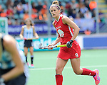 The Hague, Netherlands, June 14: Rachel Dawson #8 of USA looks on during the field hockey bronze medal match (Women) between USA and Argentina on June 14, 2014 during the World Cup 2014 at Kyocera Stadium in The Hague, Netherlands. Final score 2-1 (2-1)  (Photo by Dirk Markgraf / www.265-images.com) *** Local caption ***