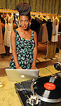 Solange behind the turntables at the Grand Opening Cocktail Reception at Miu Miu in the Houston Galleria Monday Feb. 27,2012. (Dave Rossman Photo)