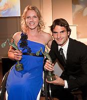 01-06-10, Tennis, France, Paris, Roland Garros, ITF Awasds dinner, Wereldkampioenen 2009: Ester Vergeer en Roger Federer