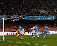 NAPOLI 08/11/2012 - GRUPPO F UEFA  EUROPA LEAGUE.INCONTRO NAPOLI - DNIPRO.NELLA FOTO  GOL  EDINSON CAVANI 3 2 .FOTO CIRO DE LUCA