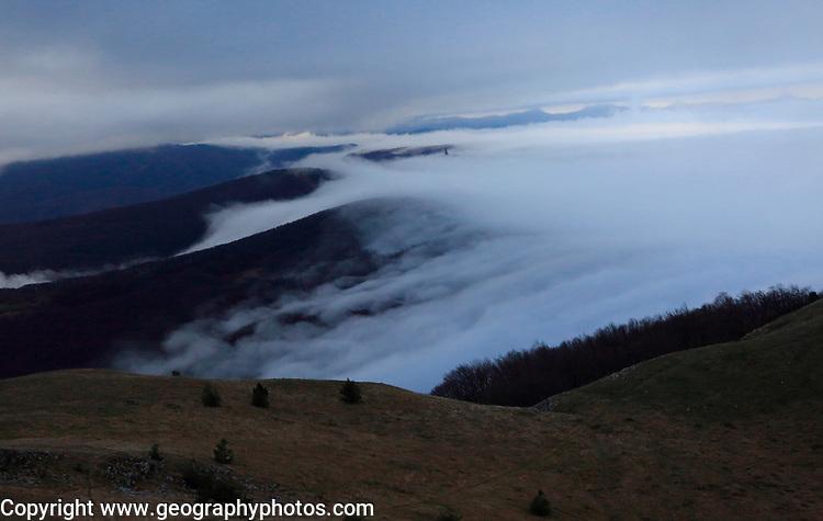 Mountain landscape scenery, Balkan Mountains, near Shipka, Bulgaria, eastern Europe