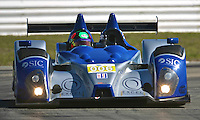 The #006 Oreca FLM09 of  Gunnar Jeanette, Ricardo Gonzalez and Rudy Junco races through a turn during qualifying for the 12 Hours of Sebring, Sebring International Raceway, Sebring, FL, March 18, 2011.  (Photo by Brian Cleary/www.bcpix.com)