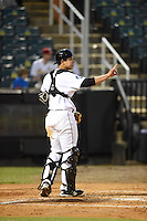 ***Temporary Unedited Reference File***Jackson Generals catcher Steve Baron (8) during a game against the Jacksonville Suns on May 4, 2016 at The Ballpark at Jackson in Jackson, Tennessee.  Jackson defeated Jacksonville 11-6.  (Mike Janes/Four Seam Images)