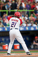 11 March 2009: #21 Carlos Delgado of Puerto Rico is seen at bat during the 2009 World Baseball Classic Pool D game 6 at Hiram Bithorn Stadium in San Juan, Puerto Rico. Puerto Rico wins 5-0 over the Netherlands