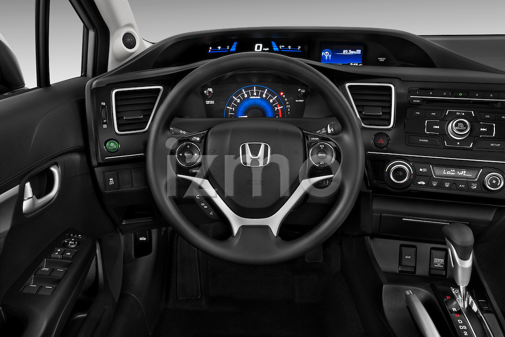 Steering wheel view of a   2013 Honda Civic Sedan EX Sedan