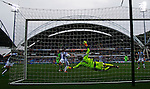 Huddersfield Town 1 Wolverhampton Wanderers 0, 27/08/2016. John Smith's Stadium, Championship. Danny Ward of Huddersfield Town saves a goal bound header from Jón Daði Böðvarsson of Wolverhampton Wanderers. Photo by Paul Thompson.