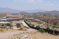 Nogales, Arizona - A section of the U.S.-Mexico border fence that divides the cities of Nogales, Arizona and Nogales, Sonora. This area is near the Border Patrol Nogales station, one of eight in the Tucson Sector, which is the busiest on the U.S.-Mexico border for illegal immigration, drug smuggling and border deaths. Photo by Eduardo Barraza © 2012