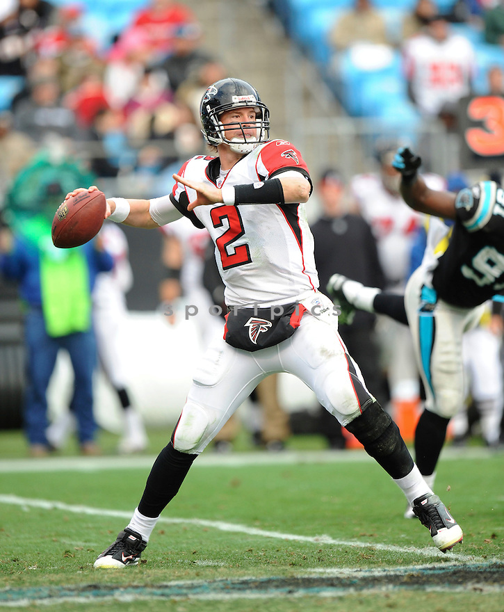 MATT RYAN, of the Atlanta Falcons in action durIng the Falcons game against the Carolina Panthers at Bank of America Stadium in Charlotte, N.C. on December 12, 2010...Falcons beat the Panthers 31-10