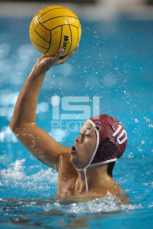 STANFORD, CA - DECEMBER 6:  Drac Wigo of the Stanford Cardinal during Stanford's 6-5 win over the LMU Lions in the semifinal of the NCAA Division 1 Men's Water Polo Championships on December 6, 2008 at the Avery Aquatic Center in Stanford, California.