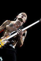 The Red Hot Chili Peppers perform at the 2012 Bonnaroo Music Festival in Manchester, Tennessee. June 9, 2012. Credit: Jen Maler / MediaPunch Inc. NORTEPHOTO.COM<br /> NORTEPHOTO.COM