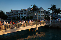 People Watching Sunset, Mallory Square, Key West, Florida Keys, FL, USA.
