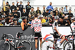 Polka Dot Jersey holder Warren Barguil (FRA) Team Sunweb with fans before the start of the 2017 Tour de France Skoda Shanghai Criterium, Shanghai, China. 29th October 2017.<br /> Picture: ASO/Pauline Ballet | Cyclefile<br /> <br /> <br /> All photos usage must carry mandatory copyright credit (&copy; Cyclefile | ASO/Pauline Ballet)
