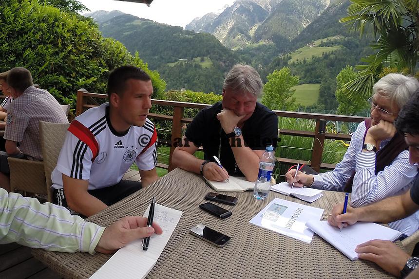 Lukas Podolski - Media Day der Deutschen Nationalmannschaft zur WM-Vorbereitung in St. Martin