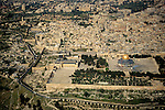 Israel, an aerial view of Temple Mount and the Old City of Jerusalem