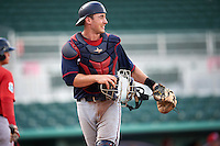 Minnesota Twins catcher AJ Murray (98) during an Instructional League game against the Boston Red Sox on September 23, 2016 at JetBlue Park at Fenway South in Fort Myers, Florida.  (Mike Janes/Four Seam Images)