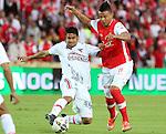 Independiente Santa Fe vencio a los Patriotas 2x1 en la liga postobon del torneo finalizacion del futbol colombiano