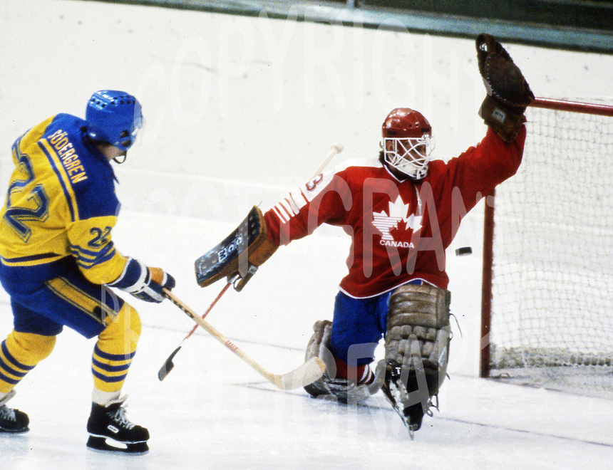 Mario Gosselin Team Canada 1984. Photo copyright F. Scott Grant