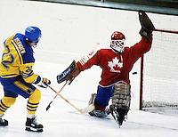 Mario Gosselin Team Canada 1984. Photo copyright F. Scott Grant