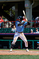 Erie SeaWolves Cam Gibson (14) at bat during an Eastern League game against the Akron RubberDucks on June 2, 2019 at UPMC Park in Erie, Pennsylvania.  Erie defeated Akron 8-5 in eleven innings in the second game of a doubleheader.  (Mike Janes/Four Seam Images)