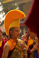 A moment in the life of a Buddhist Monk in Sikkim India