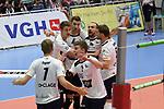 27.10.2018,  Lueneburg GER, VBL, SVG Lueneburg vs VCO Berln im Bild die Lueneburger Mannschaft jubelt/ Foto © nordphoto / Witke