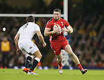 Alex Cuthbert of Wales runs into Ben Youngs of England - RBS 6Nations 2015 - Wales  vs England - Millennium Stadium - Cardiff - Wales - 6th February 2015 - Picture Simon Bellis/Sportimage