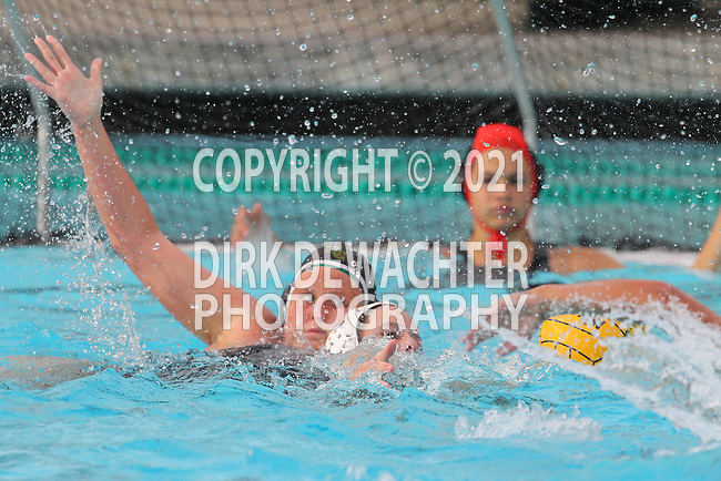 Manhattan Beach, CA 02/16/11 - Marisa Purcell (Mira Costa #17) in action during the 2011 first round CIF girls waterpolo playoffs between Edison and Mira Costa.