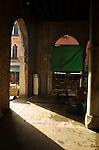 Italian market interior Venice