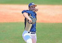 Florida International University left handed pitcher Michael Gomez (9) plays against ULM. FIU won the game 8-6 on April 1, 2012 at Miami, Florida.