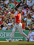 9 June 2012: Washington Nationals fielder Stephen Lombardozzi in action against the Boston Red Sox at Fenway Park in Boston, MA. The Nationals defeated the Red Sox 4-2 in the second game of their 3-game series. Mandatory Credit: Ed Wolfstein Photo