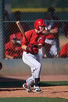 Los Angeles Angels Sam McDonnell (66) during an instructional league game against the Oakland Athletics on October 9, 2015 at the Tempe Diablo Stadium Complex in Tempe, Arizona.  (Mike Janes/Four Seam Images)