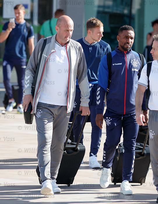22.06.2019 Rangers arrive in Portugal: Gary McAllister and Jermain Defoe